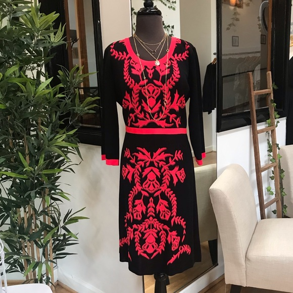 Misook Dresses Misook Blackred Dress Size Ox Xl New Poshmark